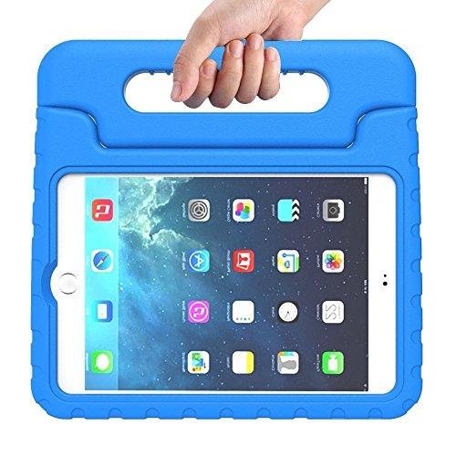 Preisvergleich Produktbild Kinder Hülle für iPad Mini 4, CAM-ULATA EVA Stoßfest Leichtgewicht Kinderfreundlich Griff Schutzhülle Standhülle Für iPad Mini 4 2015 Tablette, Blau