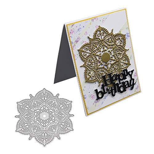 XuBa Kuchenmuster Polygonale Blumen Kohlenstoffstahl Stanzformen Messer Form Schablonen DIY Scrapbooking Stanzungen Dekor Handwerk Präge Vorlagen Neu -