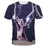 Angebote,Neue Deals,Herren T-Shirt Ronamick Unisex 3D Plus Größe Drucken Coole Pullover Kurzarm T-shirt Tops T Bluse (Lila, XL)