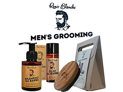 KIT BARBA RENEE BLANCHE MEN'S GROOMING LINEA TRATTAMENTO BARBA UOMO PROFESSIONALE