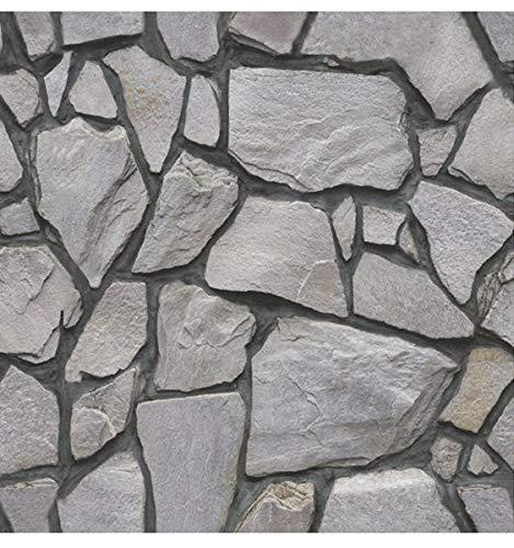 Beyond Deko Fliesenaufkleber 3D Steinwandoptik Wandaufkleber 30 x 30 cm, 6er-Set, Selbstklebend, Stein Grau 518