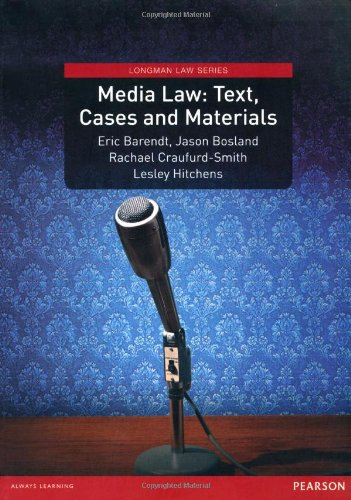 Media Law: Text, Cases and Materials (Longman Law Series)