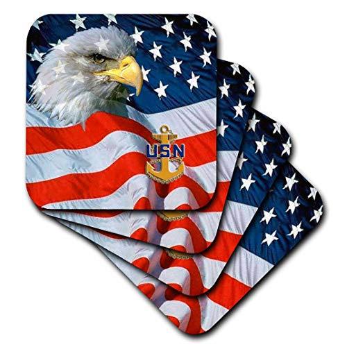 US Navy–Navy Chief Petty Büro–Untersetzer, Gummi, blau, set-of-4-Soft