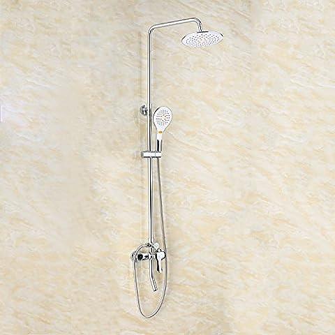 BFDGNResistente e robusto il rame spazzolato Rubinetti per lavandini bagno tutto il rame appeso alla parete 4 di un guscio della porta per il montaggio a incasso rubinetti, round Rubinetti per lavandini bagno (Dare 1/2 Hot &a freddo dei tubi flessibili acqua