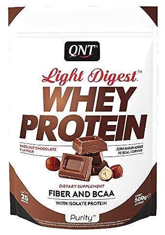 QNT Light Digest Whey Protein Supplement, 500 g, Hazlenut