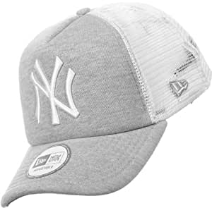 New Era - Casquette Trucker Homme New York Yankees Adjustable Clean Trucker - Jersey / White