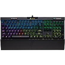 Corsair K70 RGB MK.2 - Teclado mecánico Gaming, retroiluminación LED RGB, Rojo (Cherry MX Red) (CH-9109010-ES) - [QWERTY Español]