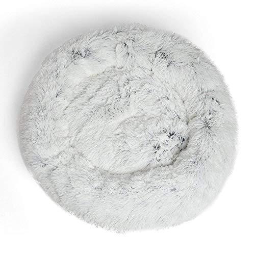 Segle Rundes Hundekissen mit Donut-Motiv,Hundebett Haustier Weichem Hundesofa,selbstwärmend und gemütlich für besseren Schlaf,Maschinenwaschbar,Wasserfeste Unterseite 70 * 70cm-Frost -