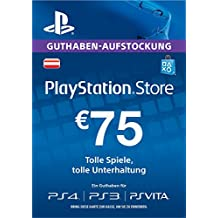 PSN Guthaben-Aufstockung 75 EUR [PS4, PS3, PS Vita PSN Code - österreichisches Konto ]