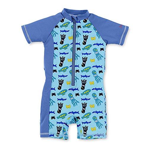 Sterntaler Baby-Jungen Einteiler Schwimmanzug, Blau (Aquamarin 427), 104