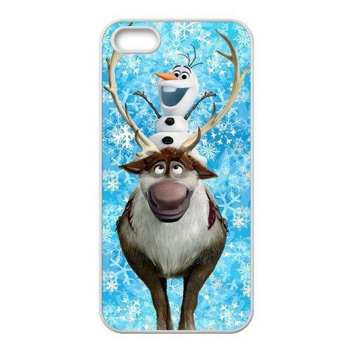Frozen Olaf neuf Attractive couleur peinture Protecteur de peau et durs Protection d'écran Housses case Etui Coque pour Apple iPhone 55S