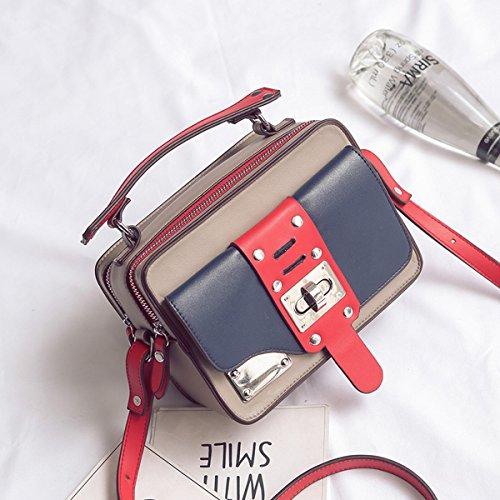 Weibliche Persönlichkeit traf Die farbe der kleinen quadratischen paket Pu weichen verschluss wölbung weiblichen schultertasche Rot