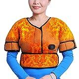 Wärmekissen Nacken, Schulter, Rücken, Elektisches Nackenheizkissen Elektrothermische Kleidung aus Kohlefaser-Kräuteressenz heiße Kompresse Hals und Schulterumfang Wärmeschutz warme Kompresse,Orange