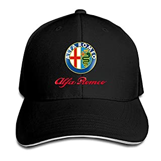 Biotio Alfa Romeo Sandwich Peaked Baseball Caps/Hats Adjustable For Unisex