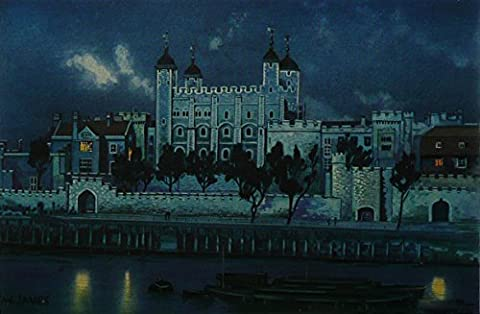 The Tower Of London - W James LONDON NOCTURNES- Framed Picture 11
