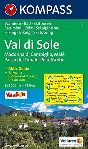 Val di Sole 1 : 35 000: Wanderkarte mit Kurzführer und Rad- Skirouten. GPS-genau. Mit Panorama