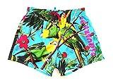 DSQUARED Costume da Bagno Uomo Boxer Corto D7B642760.340 Tropical Swim Shorts 48 Azzurro
