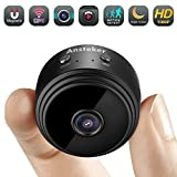 Mini Spy Camera, Ansteker WiFi Hidden Camera Wireless HD 1080P with Motion Detection Night Vision Security Cameras, Nanny Baby Pet Cam for iPhone/Android Phone/iPad/PC