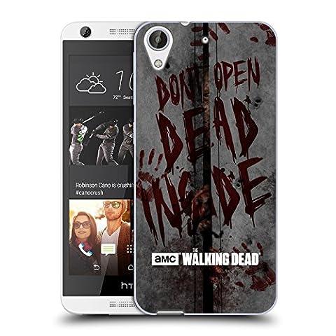 Officiel AMC The Walking Dead Mort À L'Intérieur Typographie Étui Coque en Gel molle pour HTC Desire 626