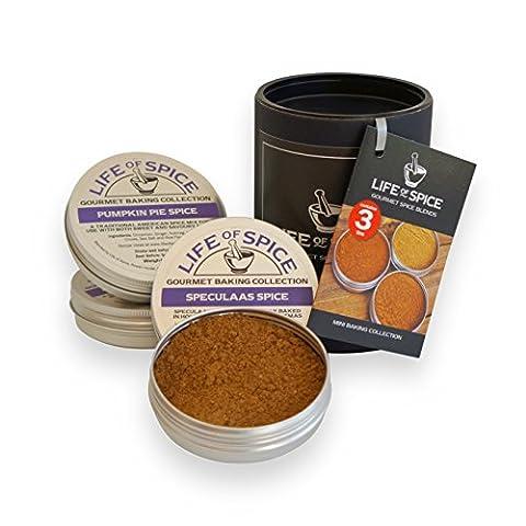 Collection de mini épices pour les pâtisseries Life of Spice – Ensemble de 3 épices pour les pâtisseries Life of Spice (30g