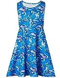Funnycokid Kinder Prinzessin Kleid Unicorn Printed Cartoon Pattern Ärmelloses Kleid