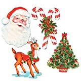 Beistle 4-Pack Packaged Christmas Cutout...