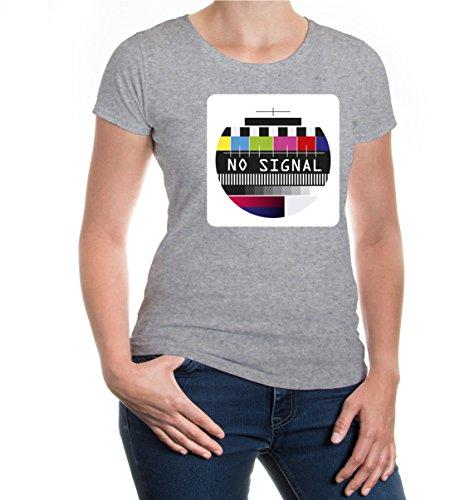 buXsbaum® Girlie T-Shirt Testcard Heathergrey-z-direct