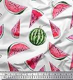 Soimoi Orange Viskose Chiffon Stoff Wassermelone Obst