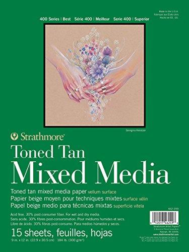 Strathmore Mixed Media Papier, hautfarben, 22.60 x 30.22 x 1.27 cm