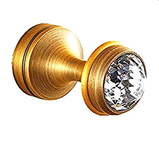 AUSWIND Antique Crystal Brass Bronze Coat Hooks Wall Mount Luxury Bathroom Accessories (2)