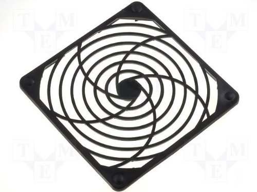 Kunststoff Lüftergitter (Lüftergitter 120x120 mm 120mm Lüfter Gitter Kunststoff Nippel Befestigung)