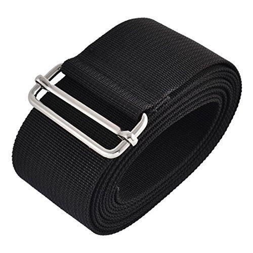 Preisvergleich Produktbild DealMux Nylon Haushalt Reisen Adjustable Koffer Koffergurt Gürtelschnalle 2.5M Länge Schwarz