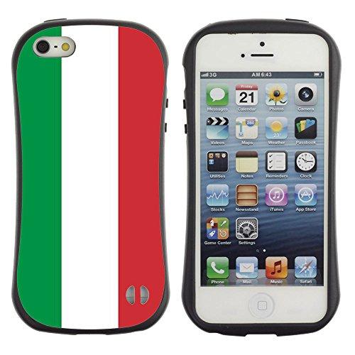 Graphic4You Italien Italienisch Flagge Anti-Rutsch Stoßfeste Hülle Weichen Case Tasche Schale Schutzhülle für Apple iPhone SE / 5 / 5S Design #5
