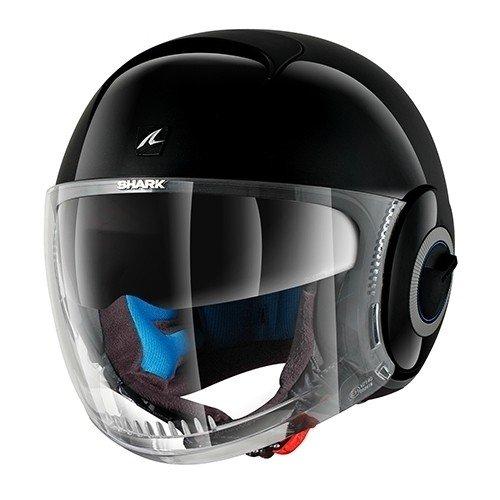 Shark Nano Blank, casco da moto, nero, taglia L
