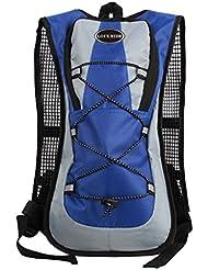 5L Bolsa Mochila de Agua Hidratación para Bicicleta Mtb Excursión Azul