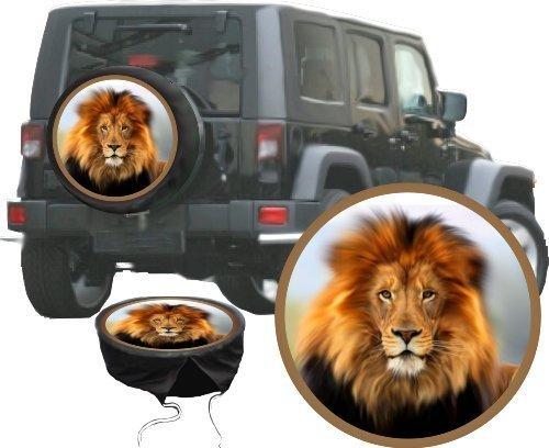 """Preisvergleich Produktbild PREMIUM Reserveradabdeckung """"König der Löwen"""", Reserveradhülle in 3 versch. Farben, Tasche, Überzieher, Schutz, aus hochwertigem Planenmaterial für Auto oder Jeep"""