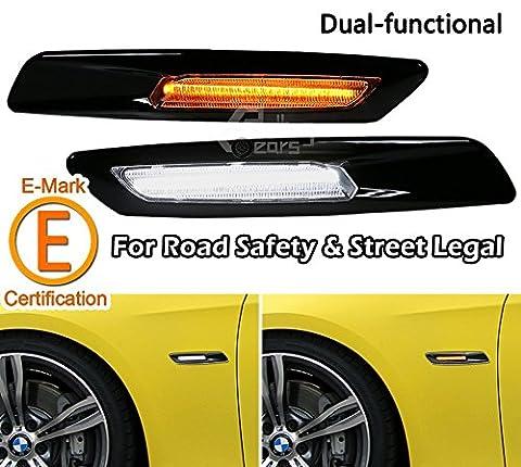 F10 Style Side Marker Lamp For BMW E60 E90 E81, Dual-Function Ultra Bright LED Light, Gloss Black