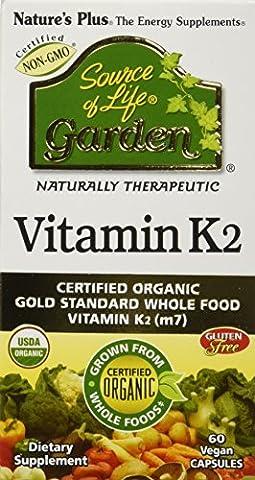 Nature's Plus - Source of Life Garden Vitamine K2 60 Capsules Végétales