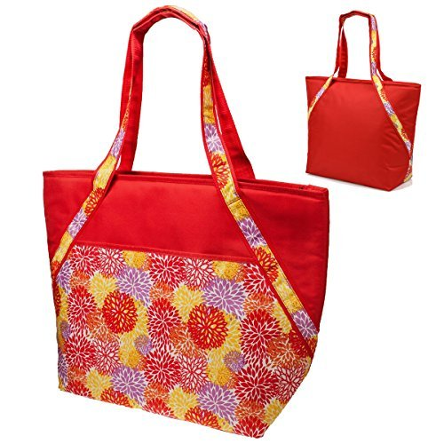 super-sachi-hot-cold-50-can-insulated-cooler-picnic-lunch-tote-bag-red-floral-by-sachi
