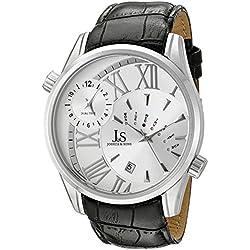 Joshua & Sons JS72SS - Reloj de cuarzo para hombres, color negro
