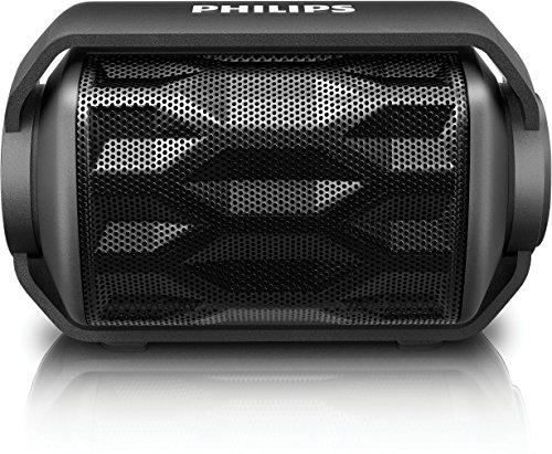 Philips BT2200B/00 - Altavoz portátil con Bluetooth (micrófono, batería recargable, resistente al...