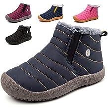 7ee3c984e KVbaby Niños Botines Zapatos Botas de Nieve Invierno Fur Calentar Botas Al  Aire Libre Boots Anti