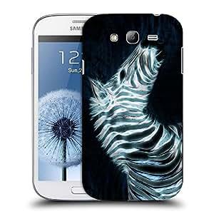 Snoogg Neon Zebra Designer Protective Back Case Cover For SAMSUNG GALAXY GRAND DUOS I9082