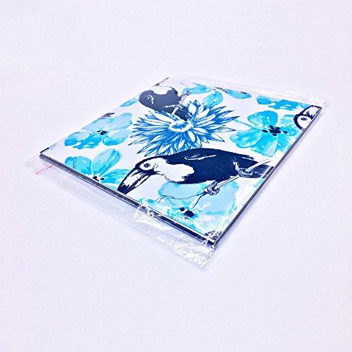 RUIPENGPENG Imagen de pared quote Sticker Adhesivo removible impermeable para Salón TV Antecedentes Kids Baby Nursery El Blue Parrot alicatados agua superficial-chip de película gruesa 20*20cm 10 perlas.