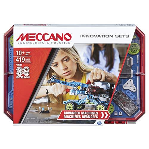Meccano - 6052622 - Jeu de Construction - Kit d'Inventions Moteur & Engrenages