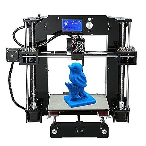 KKmoon 3D Drucker und Zubehör, Wiederherstellen Prusa i3 DIY Selbstmontage LCD Bildschirm mit 16GB Sd Karte, Unterstützen ABS / PLA / HIP / PP / Holz Filament (Max. Druck Größe: 220x 220 x250mm)
