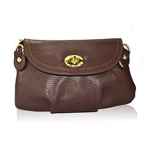 Hrph Neue Art und Weise der Frauen nette Mappen Umhängetasche Retro Kleine Taschen Solide PU-Leder Tasche #18