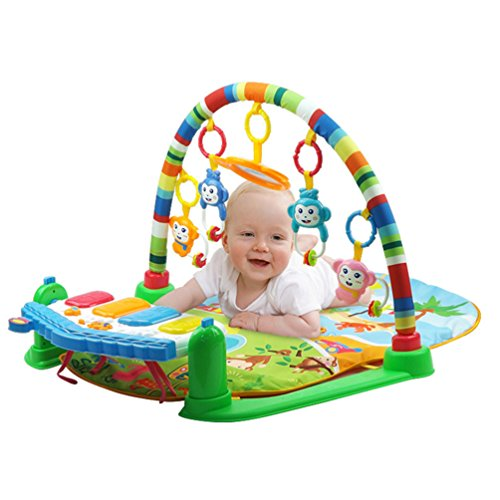 Uarter gioco educativo baby music coperta creative infant piano fitness rack multi-funcional crawl play mat cuscino