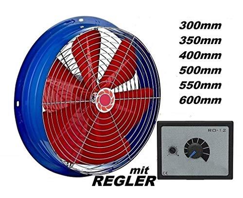 600mm Industrie Ventilator Mit 500 Watt DREHZAHLREGLER Axial Turbo Gebläse  Lüfter Motor Wandgebläse Wandlüfter Wandventilator Fensterlüfter