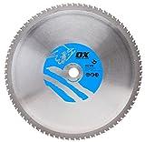 OX ox-tctm-355258080Zähne TCG Eisen Metall schneiden, 0V, silber/blau, 355/25,4mm